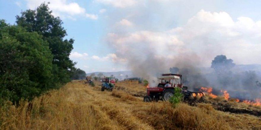 Bursa Yenişehir'de Korkutan Anız Yangını!