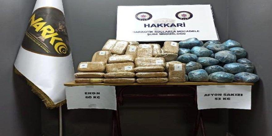 Hakkari Yüksekova'da Yapılan Operasyonda 139 Kilo Uyuşturucu Ele Geçirildi!