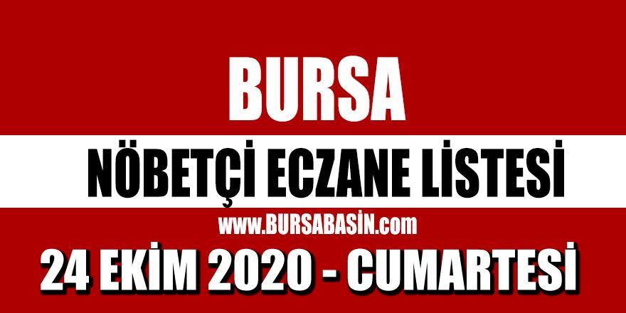 24Ekim Bursa Nöbetçi Eczaneleri - 2020