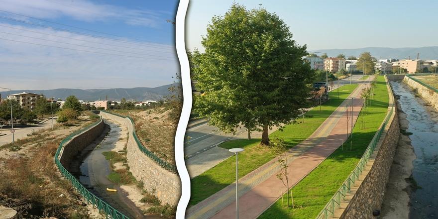 Bursa Büyükşehir Belediyesi tarafından Kestel'in vitrini yenilendi