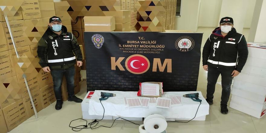 Bursa'da Kaçak Sigara Operasyonu! 2 Kişi Gözaltına Alındı