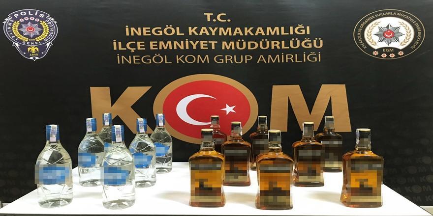 Bursa'da Kaçak İçki Operasyonu! 1 Kişi Gözaltına Alındı
