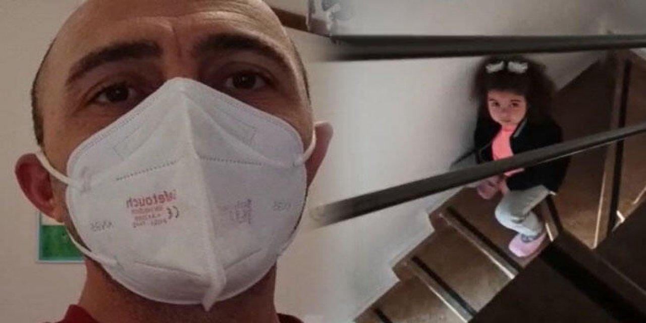Karantinadaki Sağlıkçı Baba İle Kızının Duygulandıran Diyaloğu