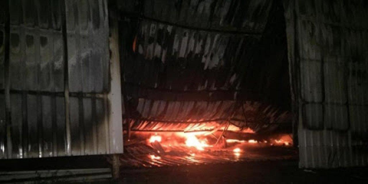 Bursa'da Fabrikada Çıkan Yangın Söndürüldü