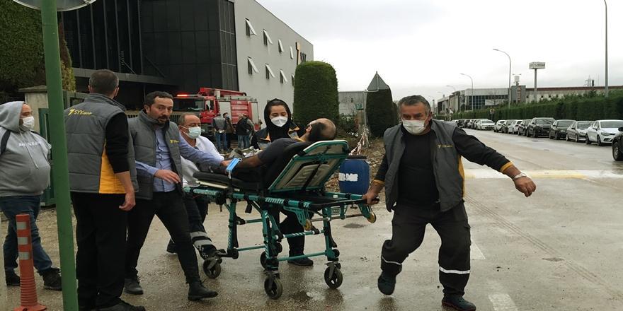 Bursa'da Fabrika Bacasında Yangın! 2 İşçi Hastaneye Kaldırıldı