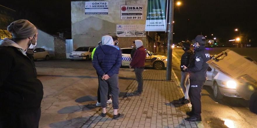 Bursa'da Kısıtlamayı İhlal Eden Aynı Araçtaki 6 Kişiye 19 Bin Lira Ceza Kesildi