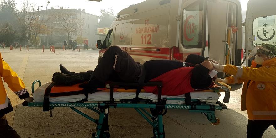İnegöl'de İş Kazası! Forkliftin Çarptığı İşçi Yaralandı