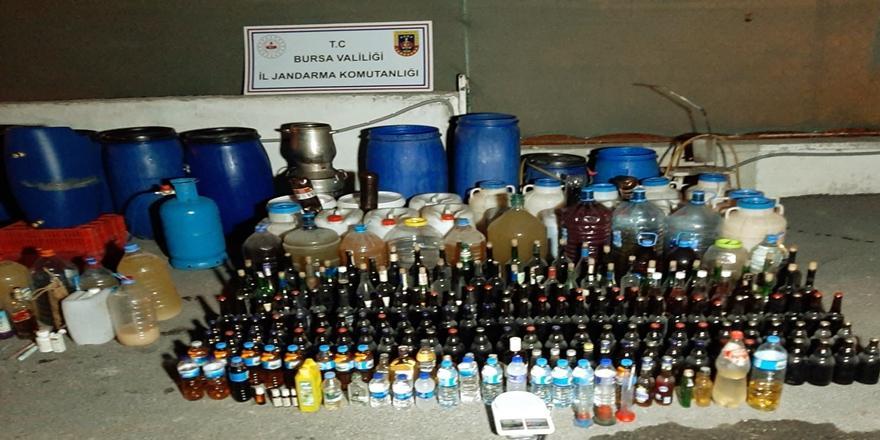 Bursa'da Sahte İçki Operasyonu! 1406 Litre İçki Ele Geçirildi