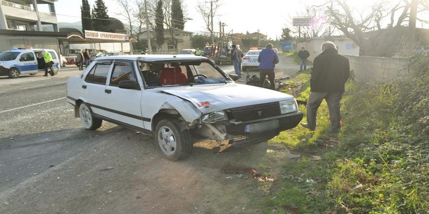 Bursa'da Kaza! Otomobilin Çarptığı Motosiklet Sürücüsü Hayatını Kaybetti