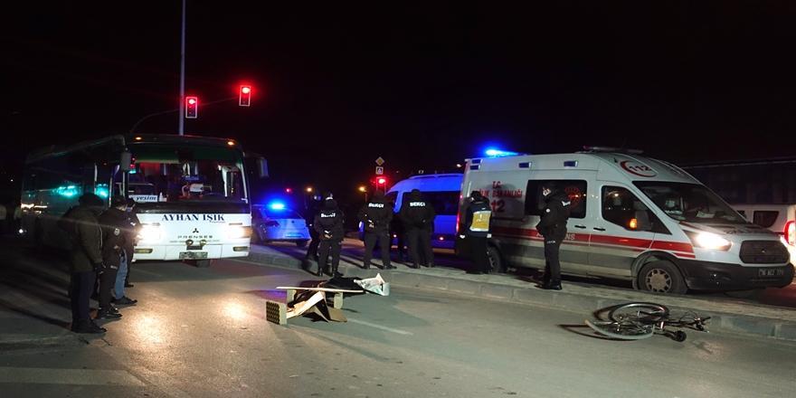 Bursa'da Kaza! Otobüsün Çarptığı Bisikletli Hayatını Kaybetti
