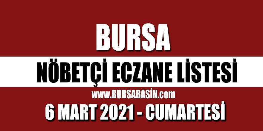 Bursa Nöbetçi Eczaneleri 6 Mart 2021 Cumartesi