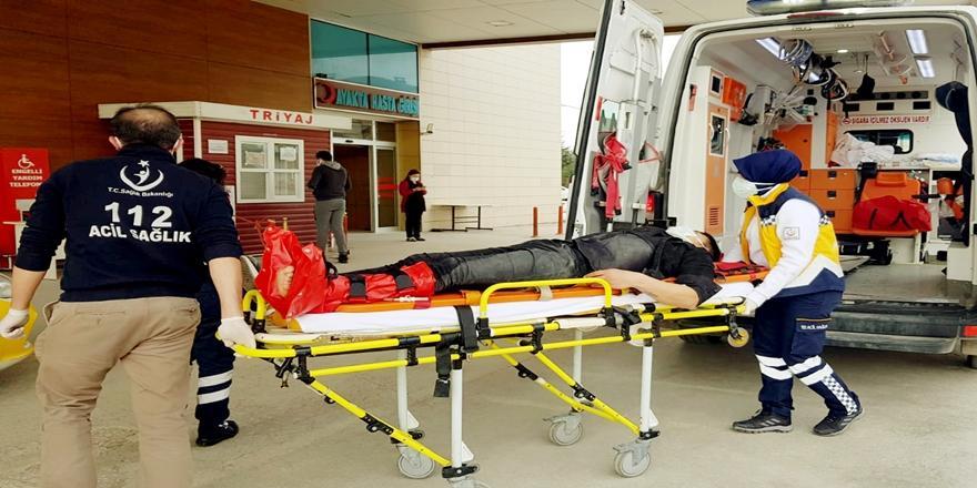 Bursa'da Kaza! Devrilen Motosikletin Sürücüsü Yaralandı