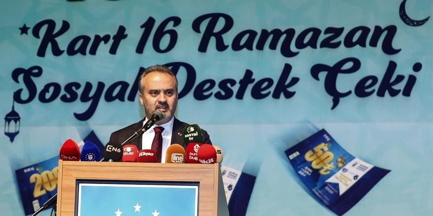 Bursa'da Büyükşehir Belediyesi'nden 100 Bin İhtiyaç Sahibine Alışveriş Çeki