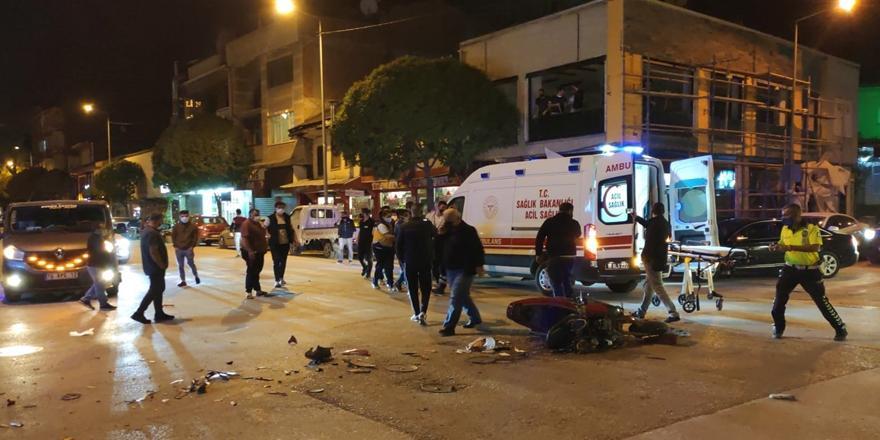 Bursa'da Kaza! Taksi İle Çarpışan Motosikletin Sürücüsü Yaralandı