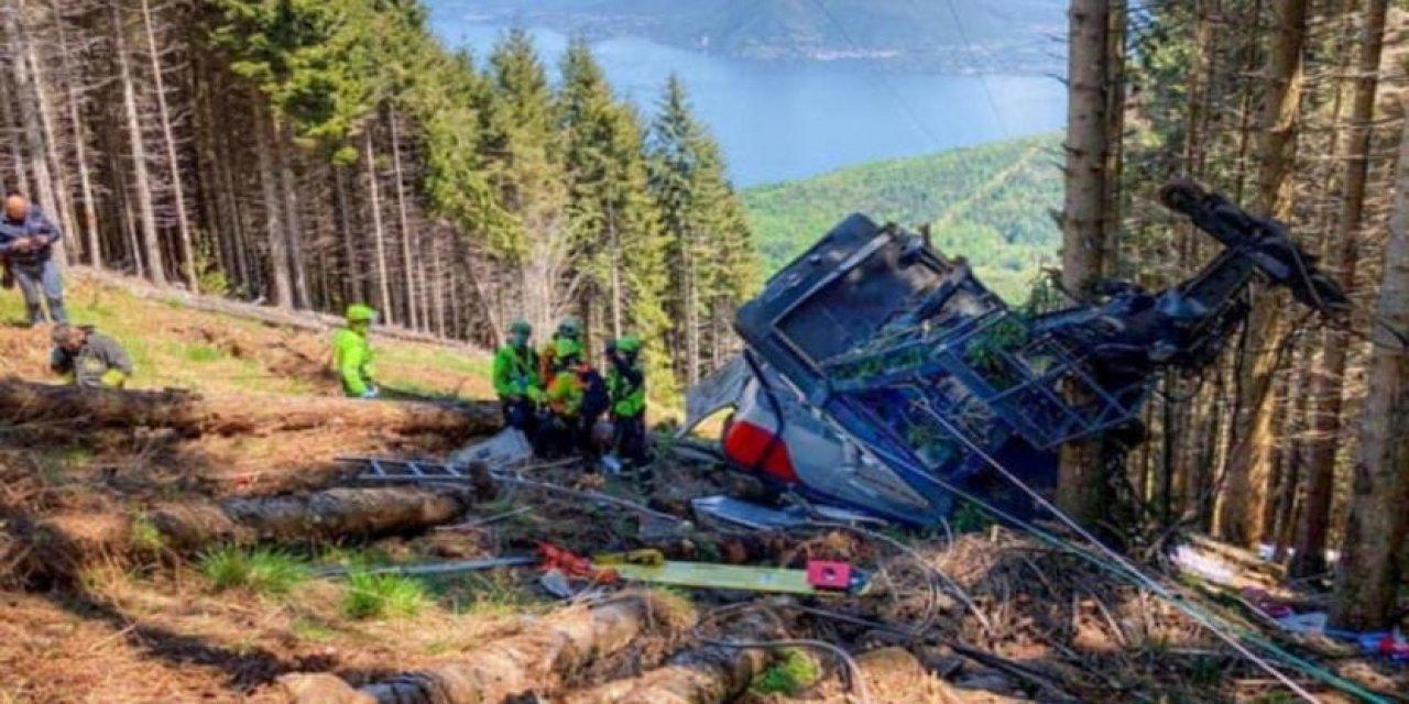 İtalya'da Teleferik Kazasında 14 Kişi Hayatını Kaybetti!