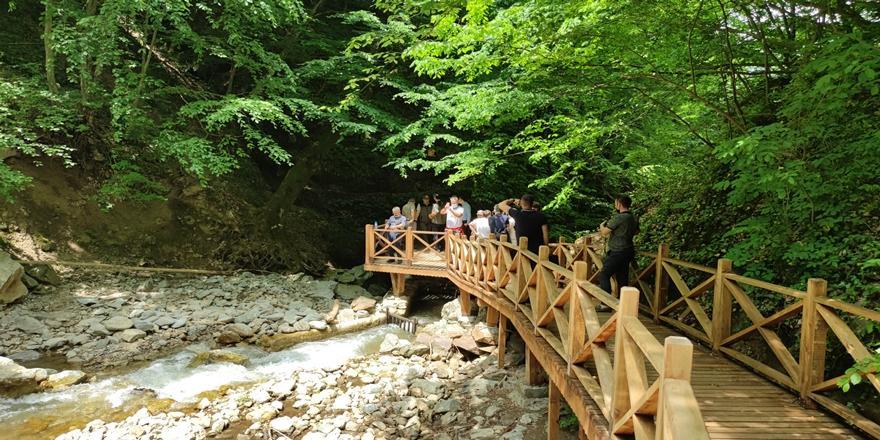 Bursa'daki Oylat Şelalesi Ekoturizm Parkuru Açıldı