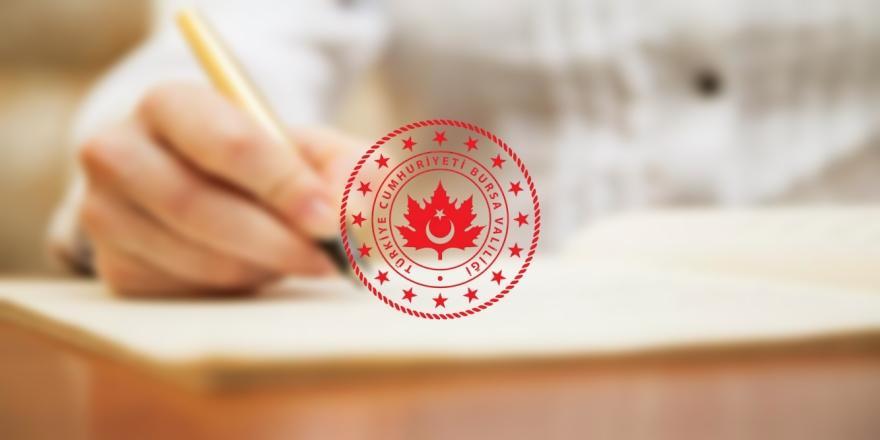 Bursa Valiliği'nden 2021-İSG Sınavına Girecek Adaylar İçin Önemli Duyuru