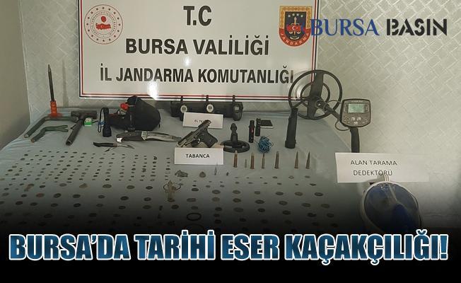 Bursa'da Jandarma Tarihi Eser Operasyonu Düzenledi: 1 Şüpheli Yakalandı