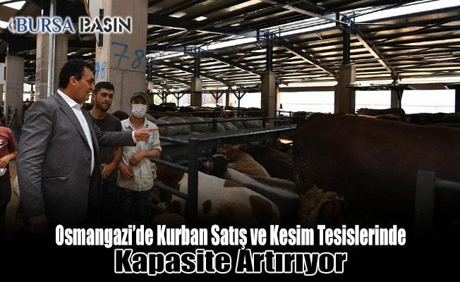 Bursa'da Kurban Satış ve Kesim Hane Tesislerinde Kapasite Artırılıyor