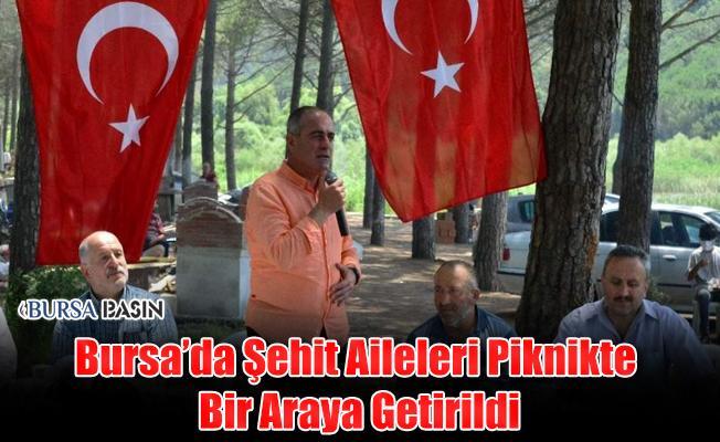 Bursa'da Şehit Aileleri Piknikte Bir Araya Geldi