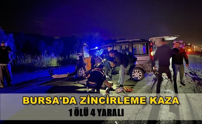 Bursa'da Zincirleme Trafik Kazası! 1 Ölü 4 Yaralı