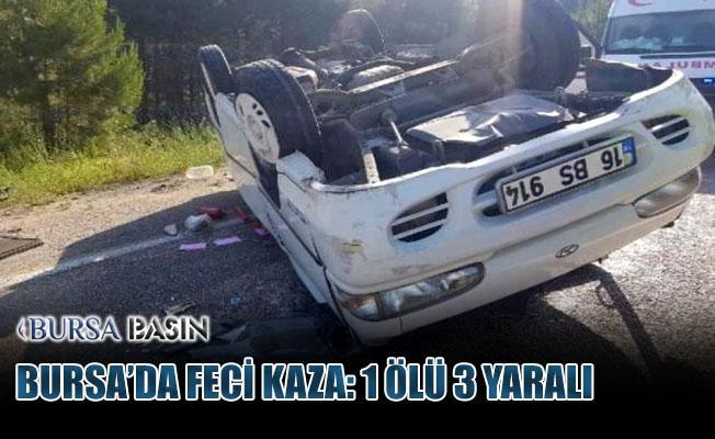 Orhanelİ'de Minibüs Devrildi; 1 Ölü 3 Yaralı
