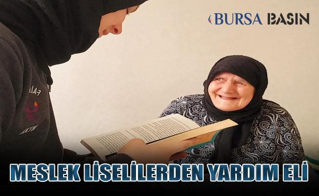 Bursa'da Meslek Liselilerden Mahalle Sakinlerine Yardım Eli!