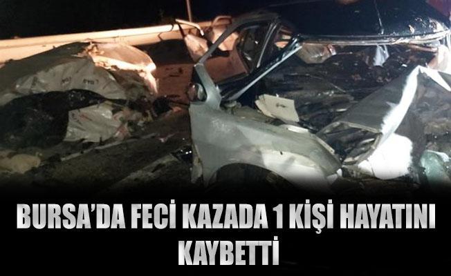 Bursa'da Tırın Dorsesinden Düşen Demir Balyasına Çarpan Otomobil Sürücüsü Hayatını Kaybetti