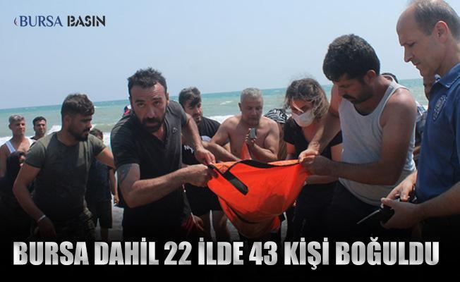 Bursa Dahil 22 Şehirde Son 8 Günde 43 Kişi Boğuldu