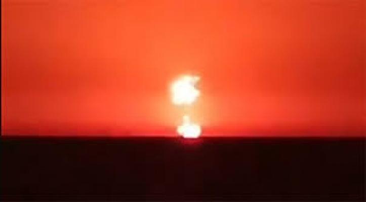 Hazar Denizi'nde Korkutan Patlama