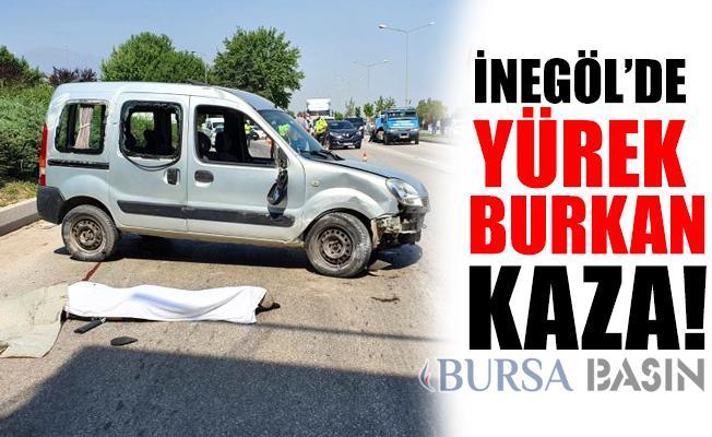 İnegöl'de Yürek Burkan Kaza! Kendi Aracının Altında Kalarak Hayatını Kaybetti!