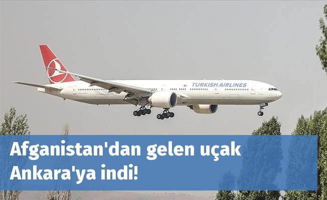Afganistan'dan gelen uçak Ankara'ya indi!