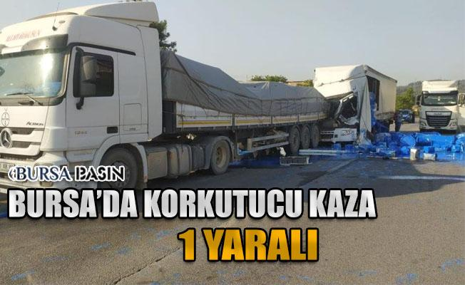 Bursa'da 2 Tır Çarpıştı: 1 Yaralı