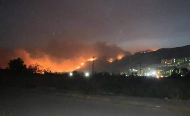 Yangın Rüzgarın Etkisiyle Kemerköy Termik Sentrali'ne Yaklaştı