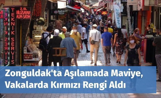 Zonguldak'ta Aşılamada Maviye, Vakalarda Kırmızı Rengi Aldı