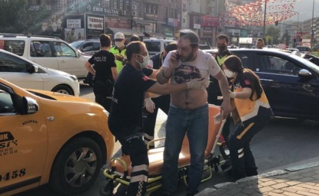 Bursa'da Taksi Şoförü Saldırıya Uğradı
