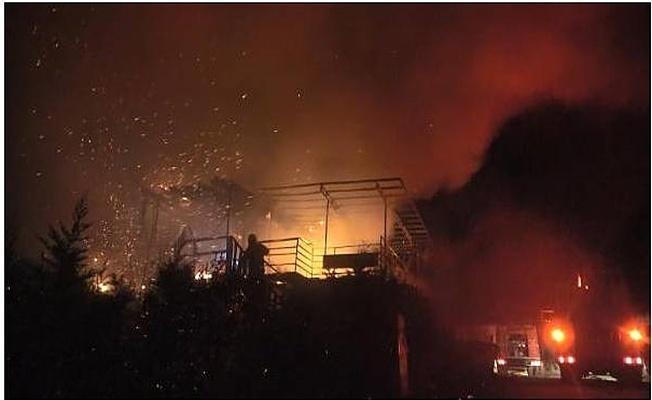 Bursa'da Madde Bağımlıları Oramanı Ve Barakayı Ateşe Verdi