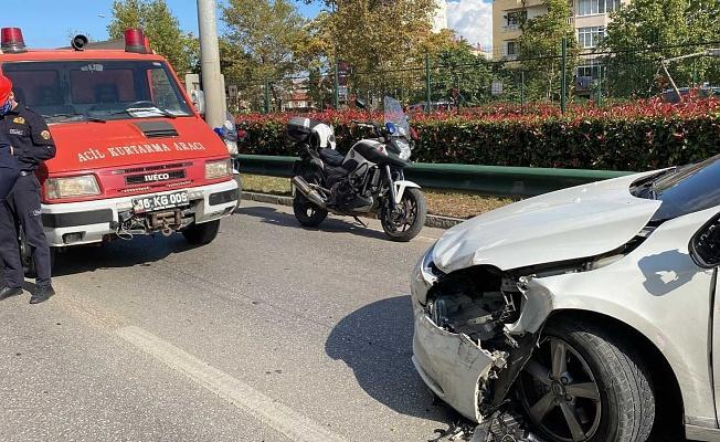 Bursa'da Trafiği Durma Noktasına Getiren Kaza