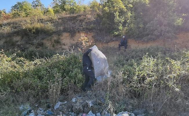 Bursa'da Yamaçtan Düşen Adamı Polis kurtardı