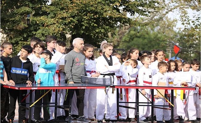 Gürsu'da Spor Haftası Sevinci