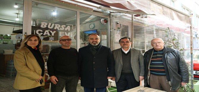 Bursa'da Başkan-Esnaf Tek Yürek