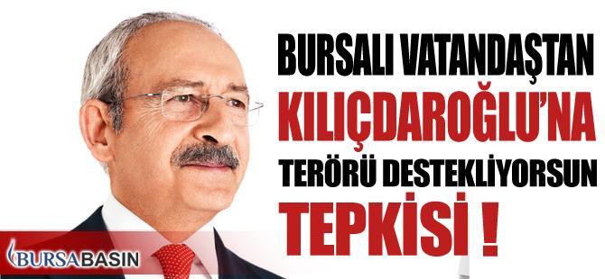 Bursalı Vatandaştan Kılıçdaroğlu'na Terörü Destekliyorsun Tepkisi