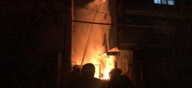 Bursa'da Yangın: Mahalleli Korku Dolu Gözlerle İzledi