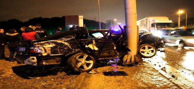 Bursa'da Meydana Gelen Trafik Kazasında 4 Kişi Yaralandı