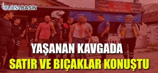 Bursa'da Yaşanan Kavgada Satır ve Bıçaklar Konuştu
