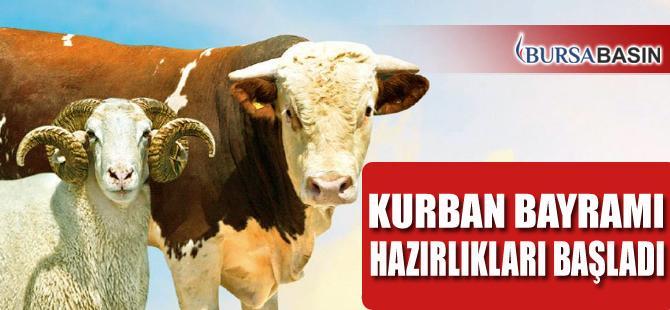 Bursa'da Kurban Bayramı İçin Hazırlıklar Devam Ediyor