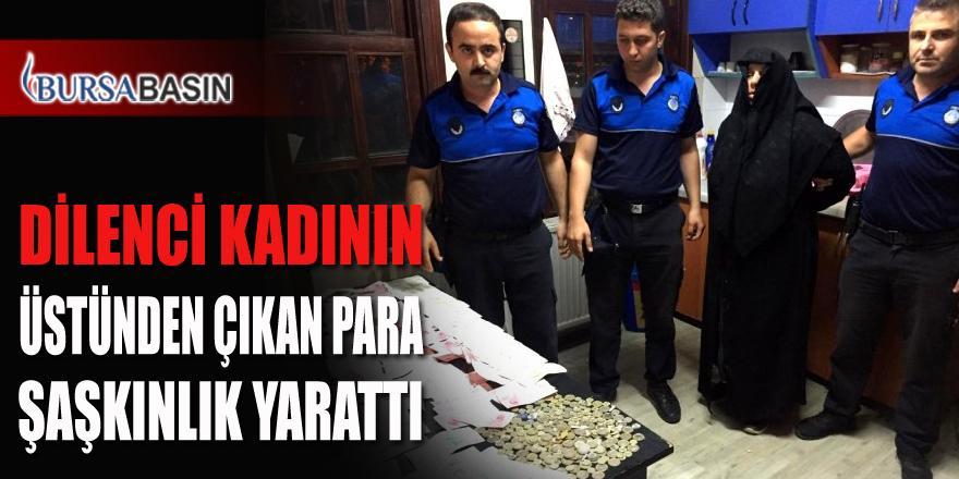 Bursa'da Dilenci Kadının Üstünden Çıkan Para Şaşırttı