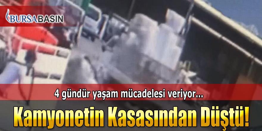 Bursa'da Çocuk Sürücünün Kullandığı Kamyonetten Düştü