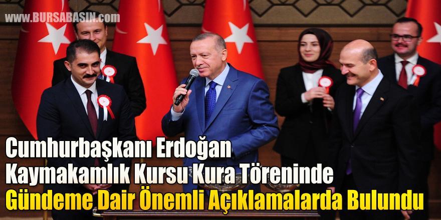 Cumhurbaşkanı Erdoğan Kaymakamlık Kursu Kura Töreninde Konuştu