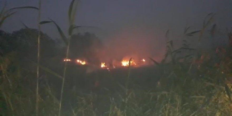 Samandağ'da Sazlık Alanda Çıkan Yangın Kontrol Altına Alındı